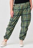 Ballonbroek, Kekoo, groen geruit, elastische taille met ingestikte plooitjes op kniehoogte_
