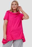 Tuniek, roze, kapmouw, met grote kol  zakken met veter, licht gewicht_