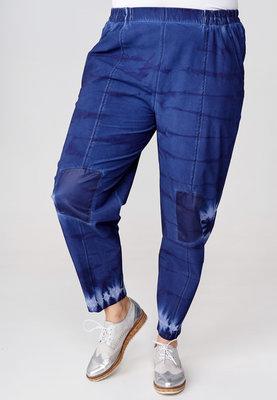..Broek Kekoo blauw, print tie-dye, elastische taille, steekzakken