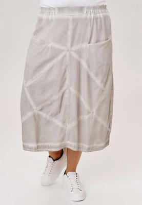 ..Rok Kekoo, kiezel stone washed, rekbare taille, mooie zakken op taillehoogte, diagonale naden
