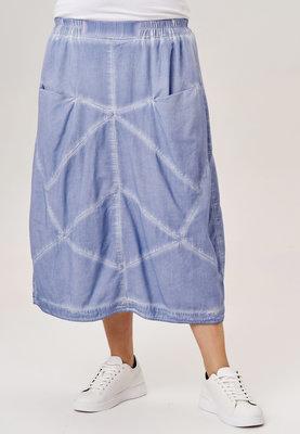 ..Rok Kekoo, jeansblauw stone washed, rekbare taille, mooie zakken op taillehoogte, diagonale naden