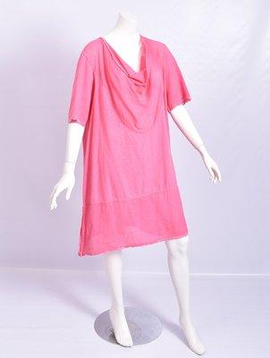 ..Kekoo ruimvallende jurk/tuniek met waterval kol,roze