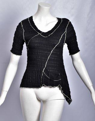 ..Tuniek, elastisch, zwart met limegroene stiksels, Kekoo