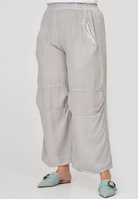 Broek, Kekoo, grijs, washed out, rekbare taille, twee steekzakken, doorgestikte naden op voorpand