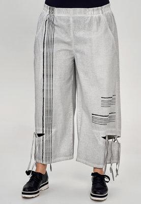 ..Broek Kekoo grijs, fijne ruit, elastische taille, steekzakken,