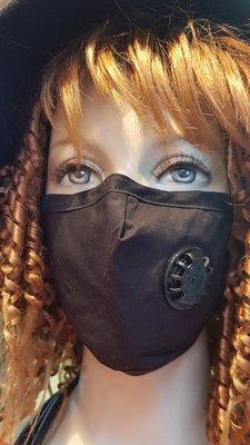 Mondkapje, zwart, wasbaar, met adem ventiel, verstelbaar, katoenen mondmasker