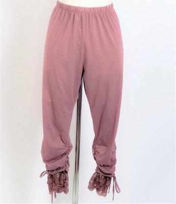 Legging. Super mooie oud roze legging met kant.