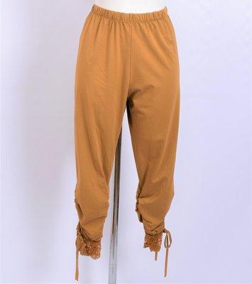 Legging. Super mooie okergeel legging met kant.