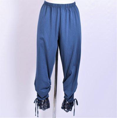 Legging. Super mooie blauw legging met kant.