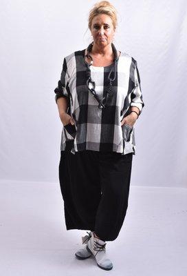Broek, ballonmodel, Kekoo, zwart, ingestikte naden, rekbare taille en steekzakken