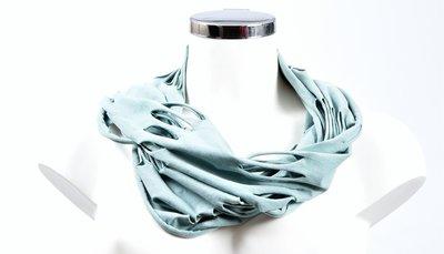 Sjaal, mintgroen met openingen