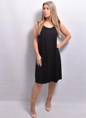 Tuniek/jurk, zwart, mouwloos,  A-lijn, ronde hals,