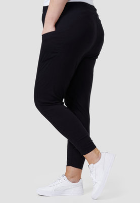 Legging,  met steekzakken, zwart, Kekoo, elastische tailleband, mooie pasvorm