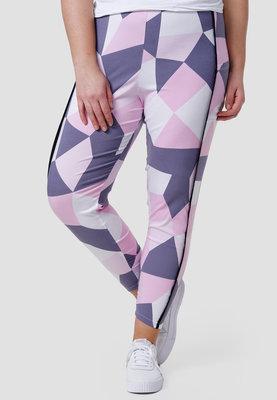 Legging, roze/wit/grijs met zakken, Kekoo, rekbare tailleband, mooie pasvorm