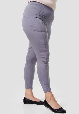 Legging, grijs, met steekzakken, Kekoo, elastische tailleband, mooie pasvorm