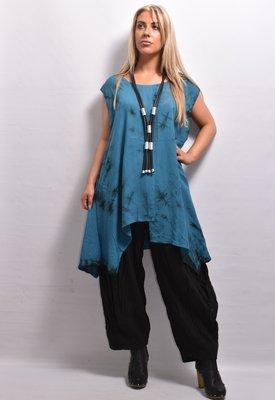Top  patrol batik mouwloos tie & dye La-Bass asymmetrisch