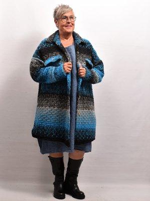 Jas/ Vest, blauw, New Collection, zakken met kleppen
