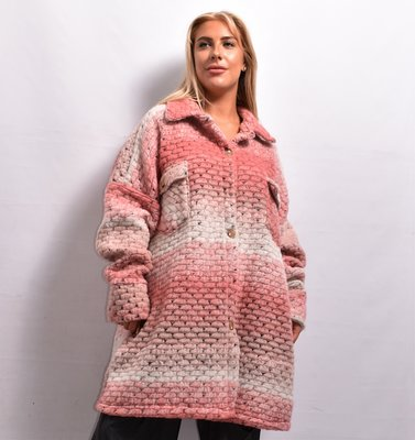 Jas/ Vest, roze, New Collection, zakken met kleppen