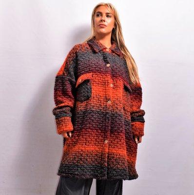 Jas/ Vest, oranje, New Collection, zakken met kleppen