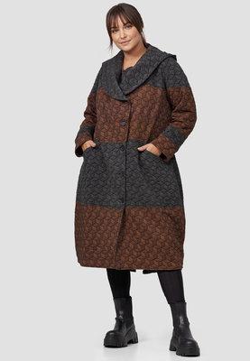 Lange jas/ mantel ,Kekoo koper/ antraciet, tweekleurig
