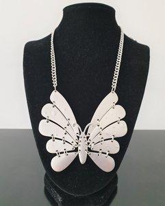 Ketting, nikkelvrij, met vlinder