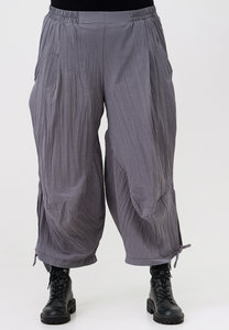 Ballonbroek, Kekoo, licht grijs, kreukelstof, elastische taille, steekzakken, koordje onderin de pijp