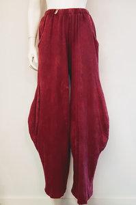 Moonshine Tricot broek tie dye bordeaux.
