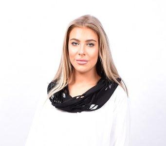 Sjaal, zwart met openingen