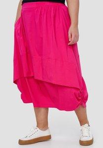 Ballonrok, roze, met ophaaltjes in de zijnaad, rekbare taille, in lengte verstelbare rok,