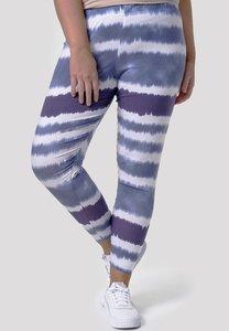 Legging, grijsblauw/wit, batik, Kekoo, brede elastische tailleband, mooie pasvorm